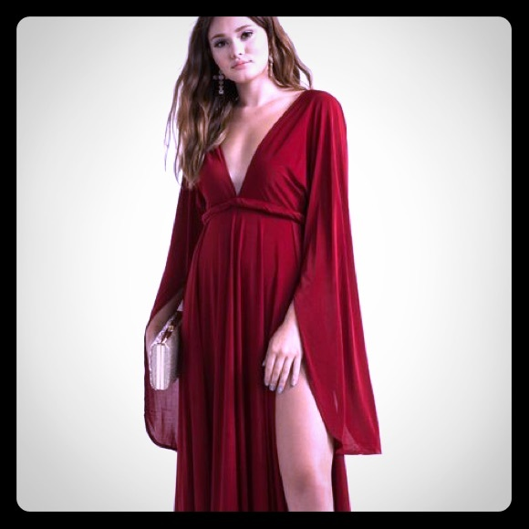 633919db59b7 AKIRA Dresses   Nwt Long Sleeve Red Maxi Dress Size Small   Poshmark